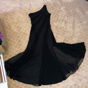Classic Black One Shoulder Cache Dress Worn Once